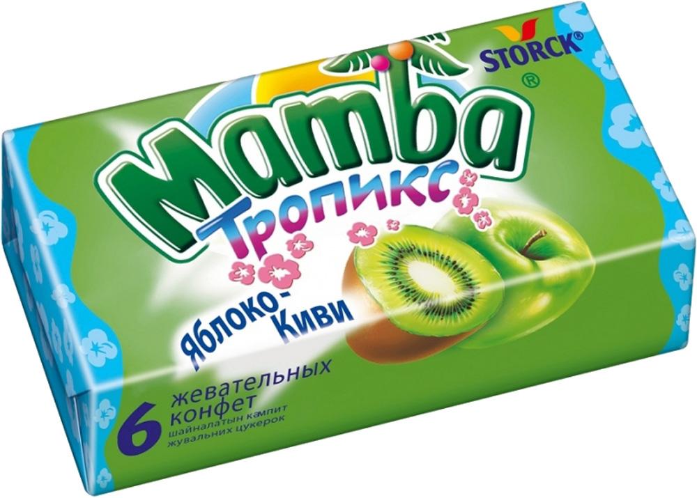Десерты Mamba Жевательные конфеты Mamba «Тропикс» 26,5 г в асс. набор шоколадных конфет птичье молоко printio новогодние звезды