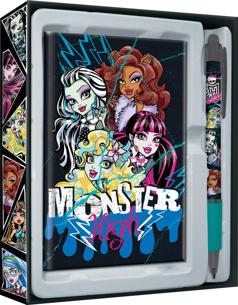 Пеналы и наборы Monster High Набор канцелярский Monster High 2 пр.