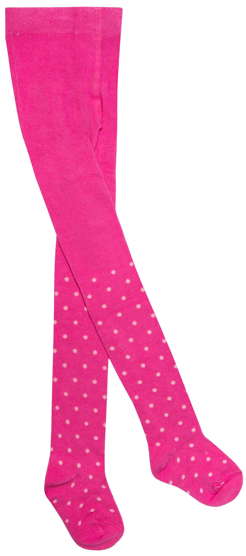 Колготки Barkito Колготки для девочки Barkito, розовые с рисунком в горошек колготки кидис колготки х б 8 марта розовые