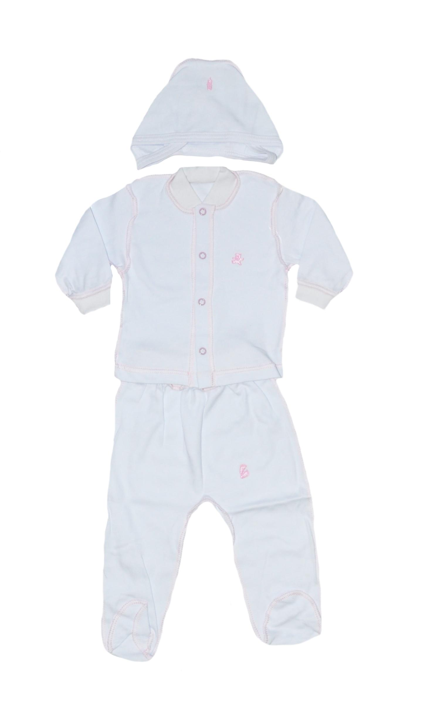 Первые вещи новорожденного Дамонт Комплект (ползунки+шапка+кофта) 3901ИП комплекты детской одежды mini world комплект для девочки кофта ползунки шапка mw14241