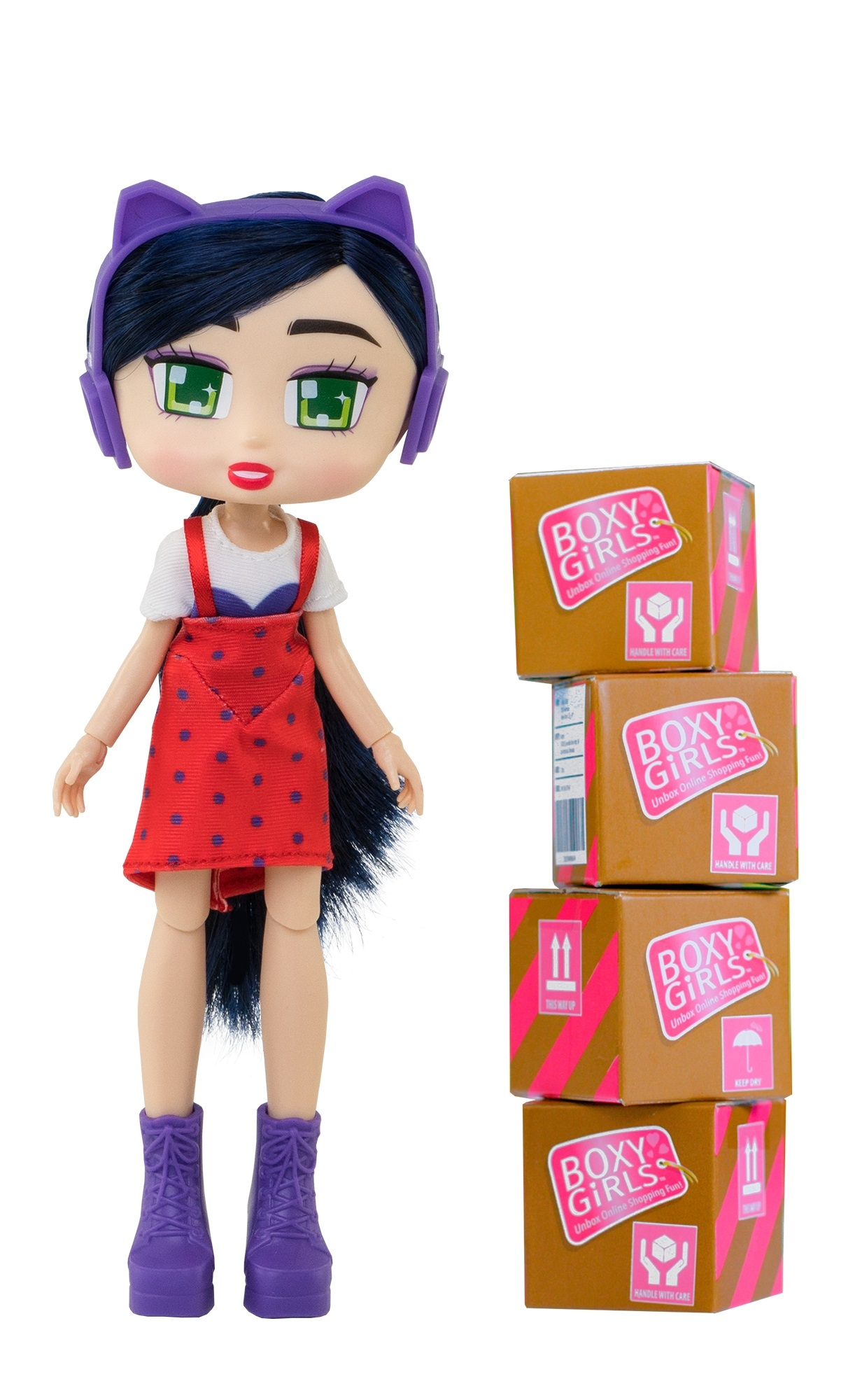 Кукла 1toy Boxy Girls Riley, брюнетка с аксессуарами 20 см кукла 1toy boxy girls willa 20 см с аксессуарами в 4 х коробочка 4х4х4 см кор 18х7 5х27 см