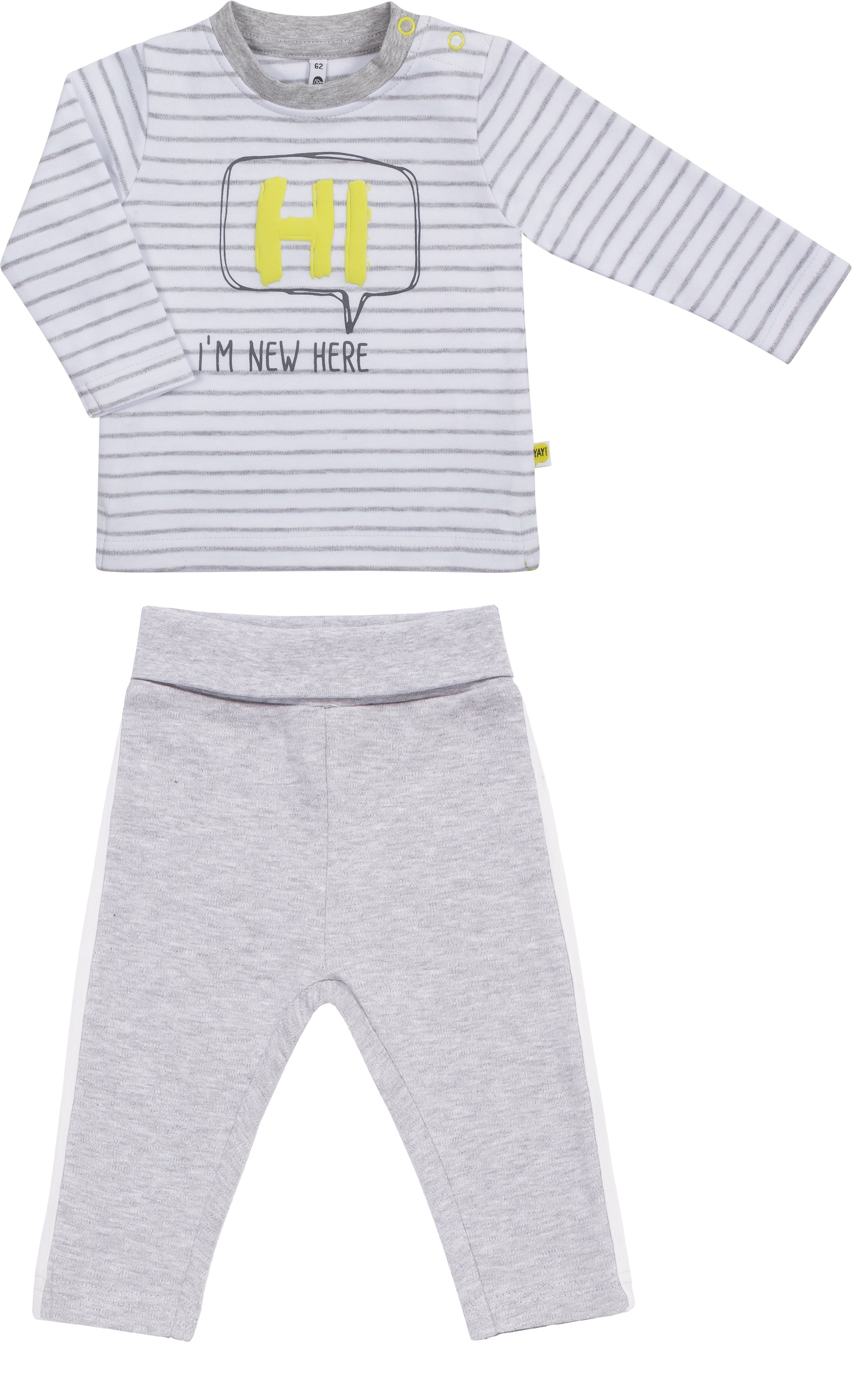 Комплект джемпер с длинным рукавом и брюки Barkito Пингвиненок Ло-Ло белый/серый