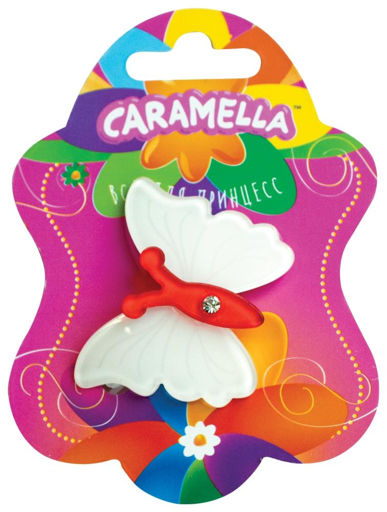 Украшения CARAMELLA Заколка для волос Caramella «Бабочка» белый с красным заколка для волос caramella бантик ярко розовые 2 шт