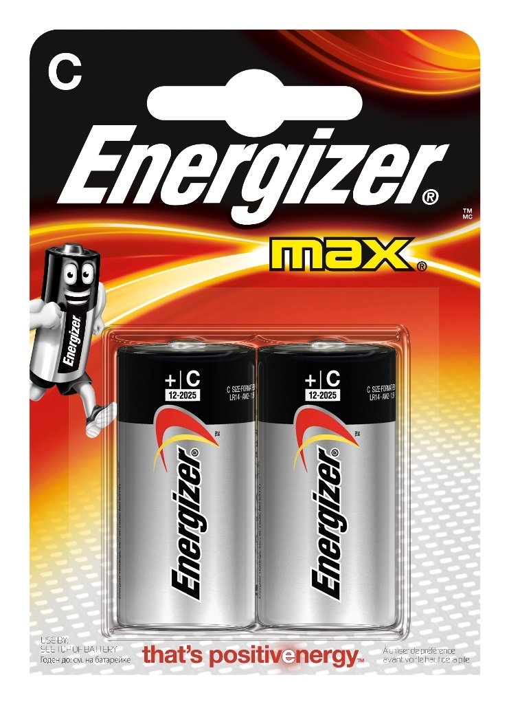 Батарейки Energizer Max E93 C 2 шт. батарейки energizer max aaa 4шт в блистере e300157300 e300157303