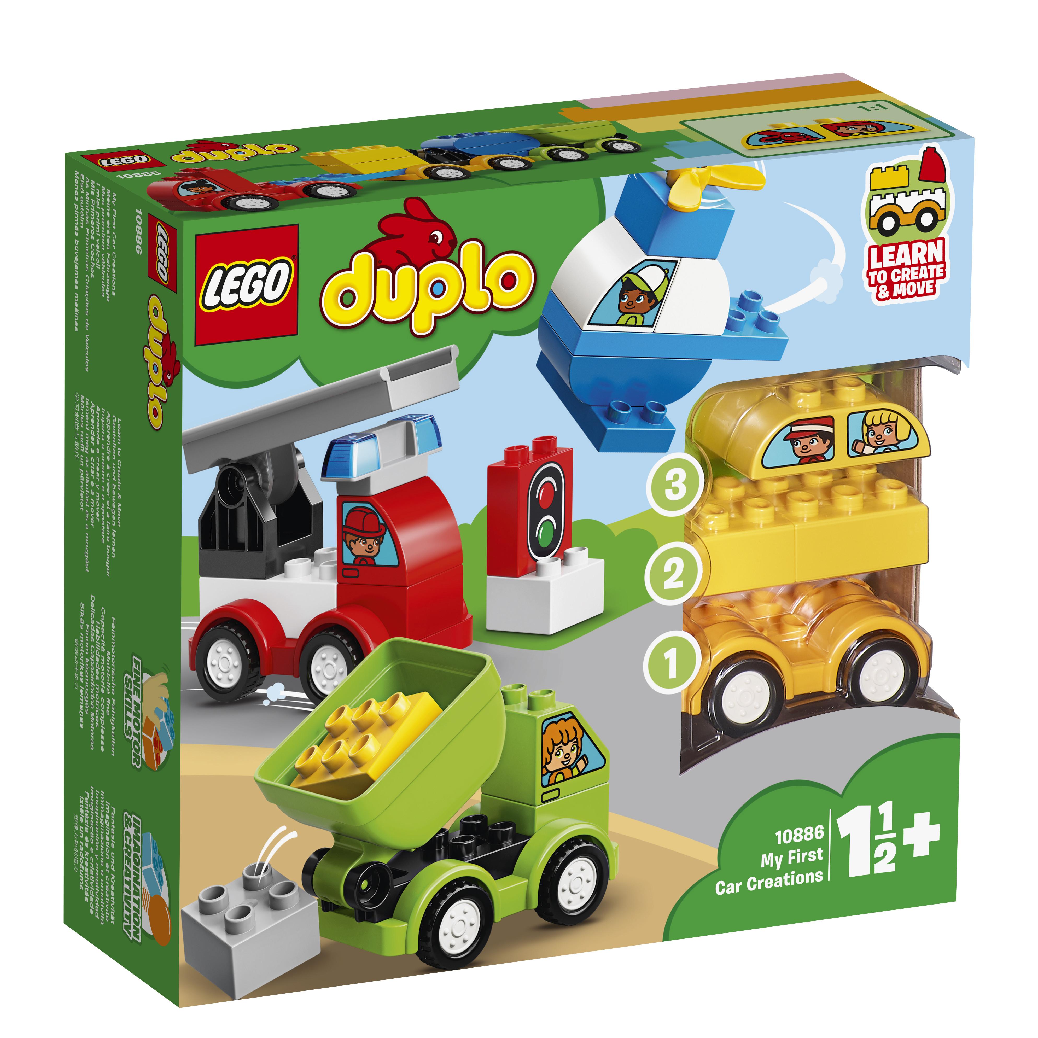 Конструктор LEGO My First 10886 Мои первые машинки конструктор lego duplo my first 10864 большая игровая площадка