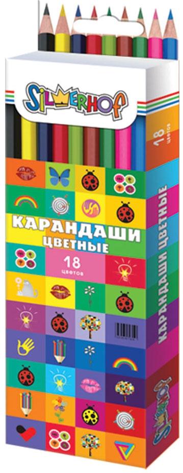 Ручки и карандаши Silwerhof 18 цветов ручки и карандаши silwerhof 18 цветов