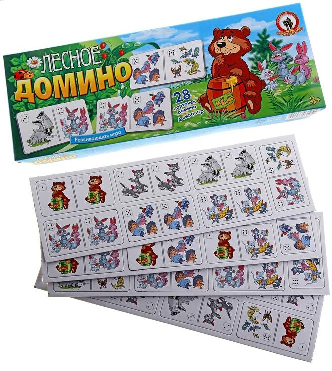 Домино Русский стиль Лесное развивающая игра rico домино зоопарк