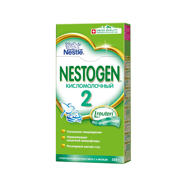 Смесь Nestogen Кисломолочный 2 с 6 мес. 350 г nestogen 2 смесь молочная с 6 месяцев 700 г