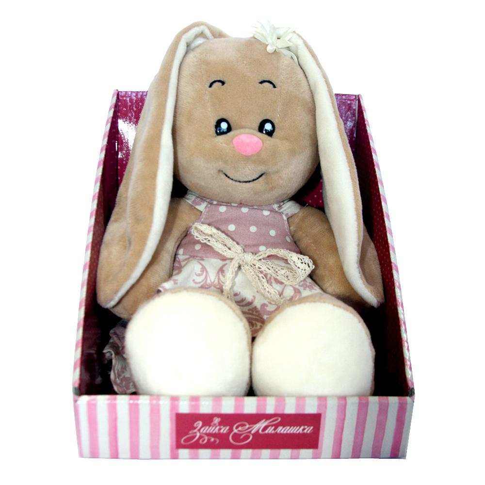 Мягкие игрушки СмолТойс «Зайка-милашка» в платье с воланами 30 см мягкая игрушка смолтойс зайка даша 53 см