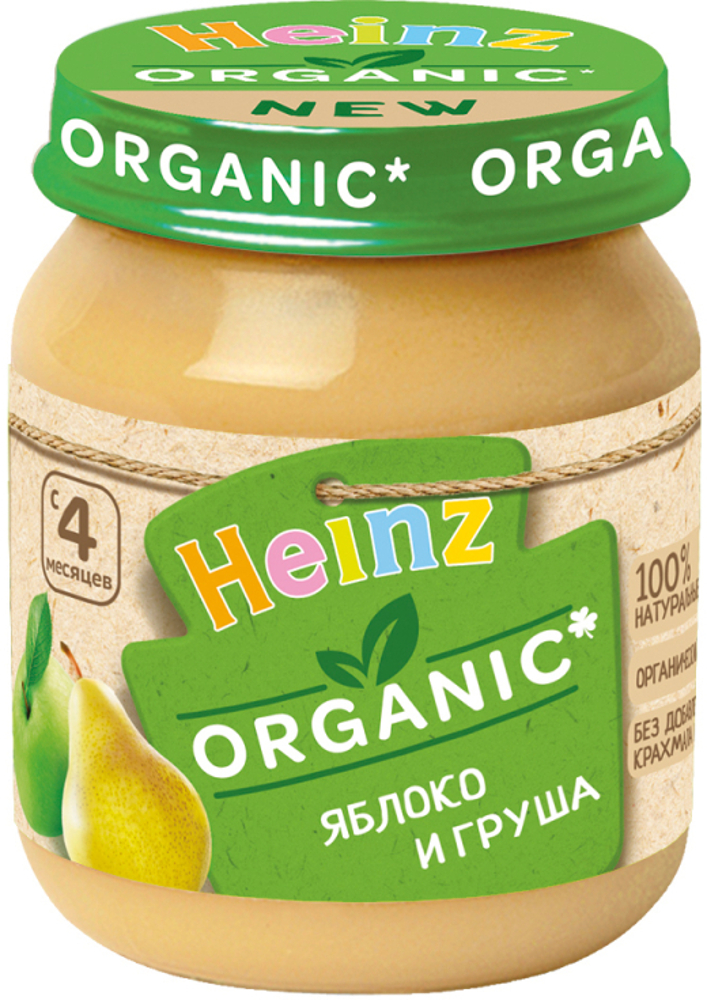 Фото - Пюре Heinz Organic Яблоко и груша с 5 мес. 120 г пюре heinz organic яблоко и груша с 5 мес 80 г