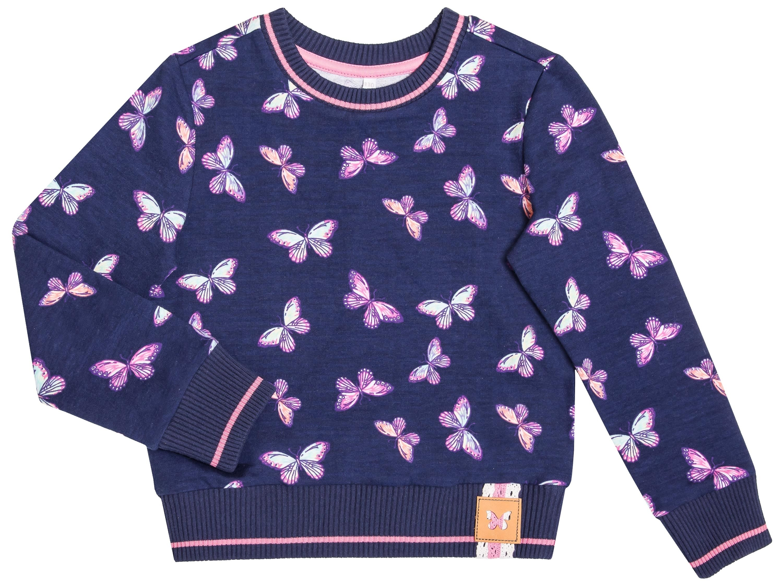 Купить Толстовки, Весенние бабочки, Barkito, Узбекистан, темно-синий, 95% хлопок, 5% эластан, Женский