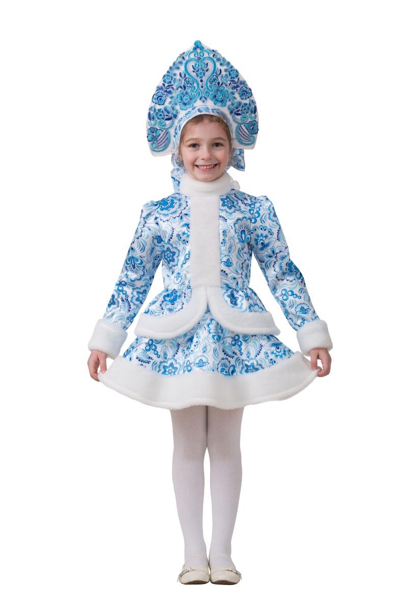 Карнавальный костюм Батик Снегурочка Гжель цена