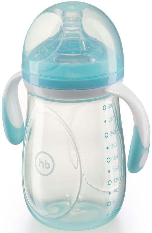 Купить Бутылочка для кормления, Anti-Colic Baby Bottle с силиконовой соской 0+ 300 мл., 1шт., Happy baby 10009, Китай, в ассортименте