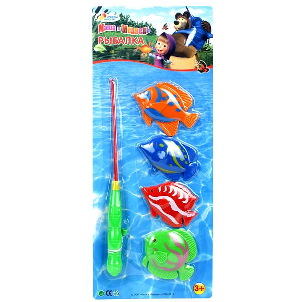 Купить Игрушки для ванны, Рыбалка Маша и Медведь, Играем вместе, Китай