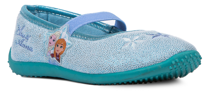 Туфли комнатные для девочки Barkito FROZEN светло-синие