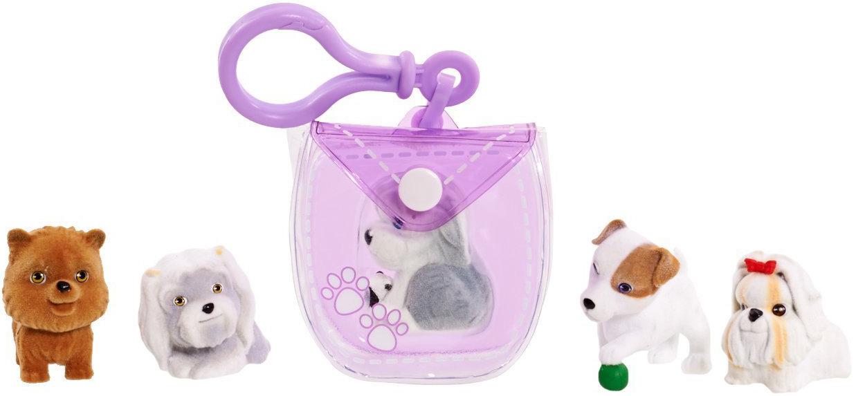 Набор игровой Puppy In My Pocket брелок-сумочка фиолетовая и 5 щенков игровой набор любимый персонаж 5 см в ассортименте