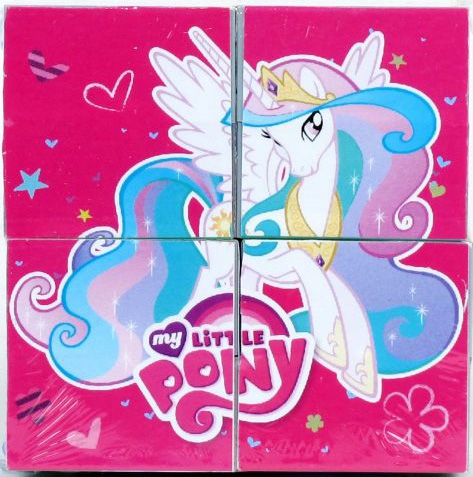 Кубики для детей Играем вместе My Little Pony 4 шт.