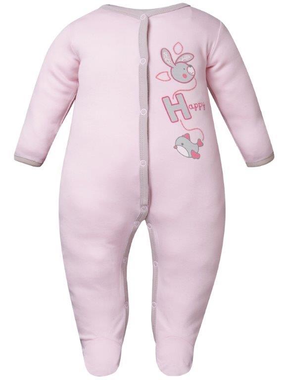 Купить Первые вещи новорожденного, Комбинезон для девочки Зайчонок Barkito розовый, Россия, pink, Женский