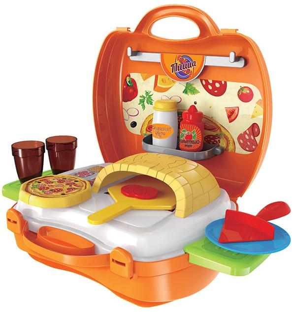 Игрушечные кухни 1toy в чемоданчике Мастер-Шеф Пицца поднос для выпекания пиццы камень kuchenprofi 10 8610 00 30
