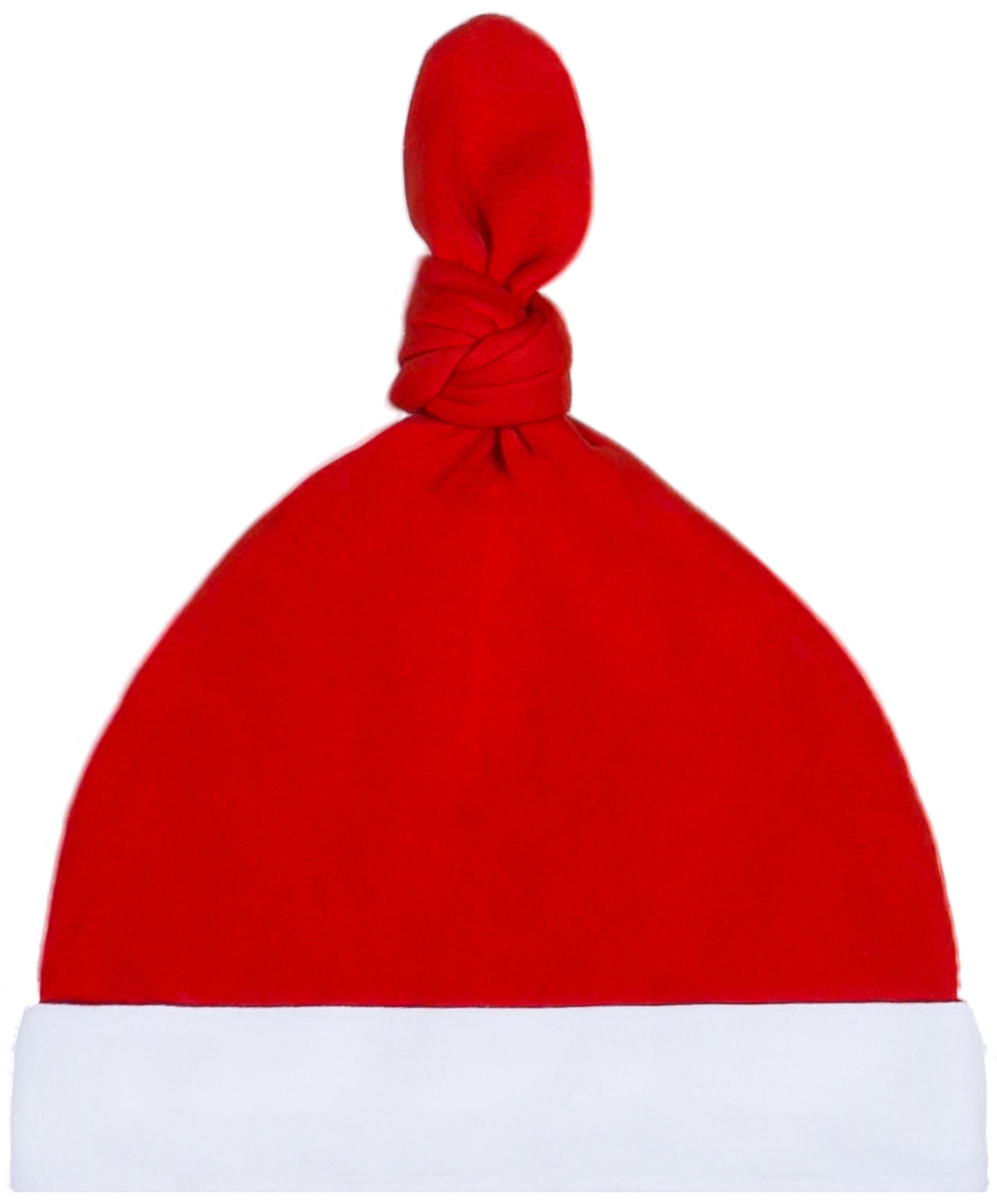 Первые вещи новорожденного Barkito Шапочка детская Barkito Новый год, красная с белой отделкой шапочка детская новый год barkito