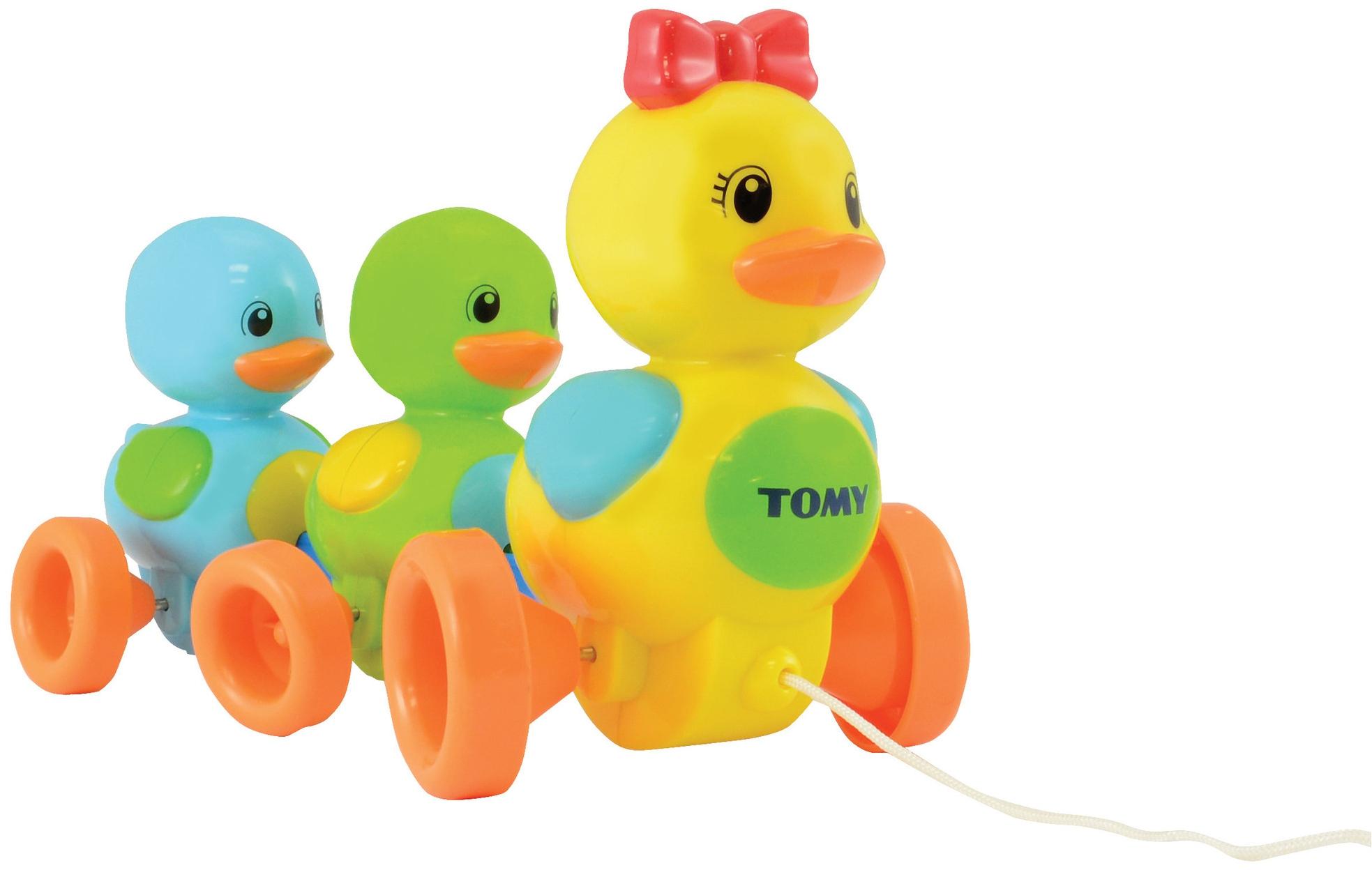 каталка Tomy Веселая Утиная Семейка каталка tomy утка с яйцом в тележке