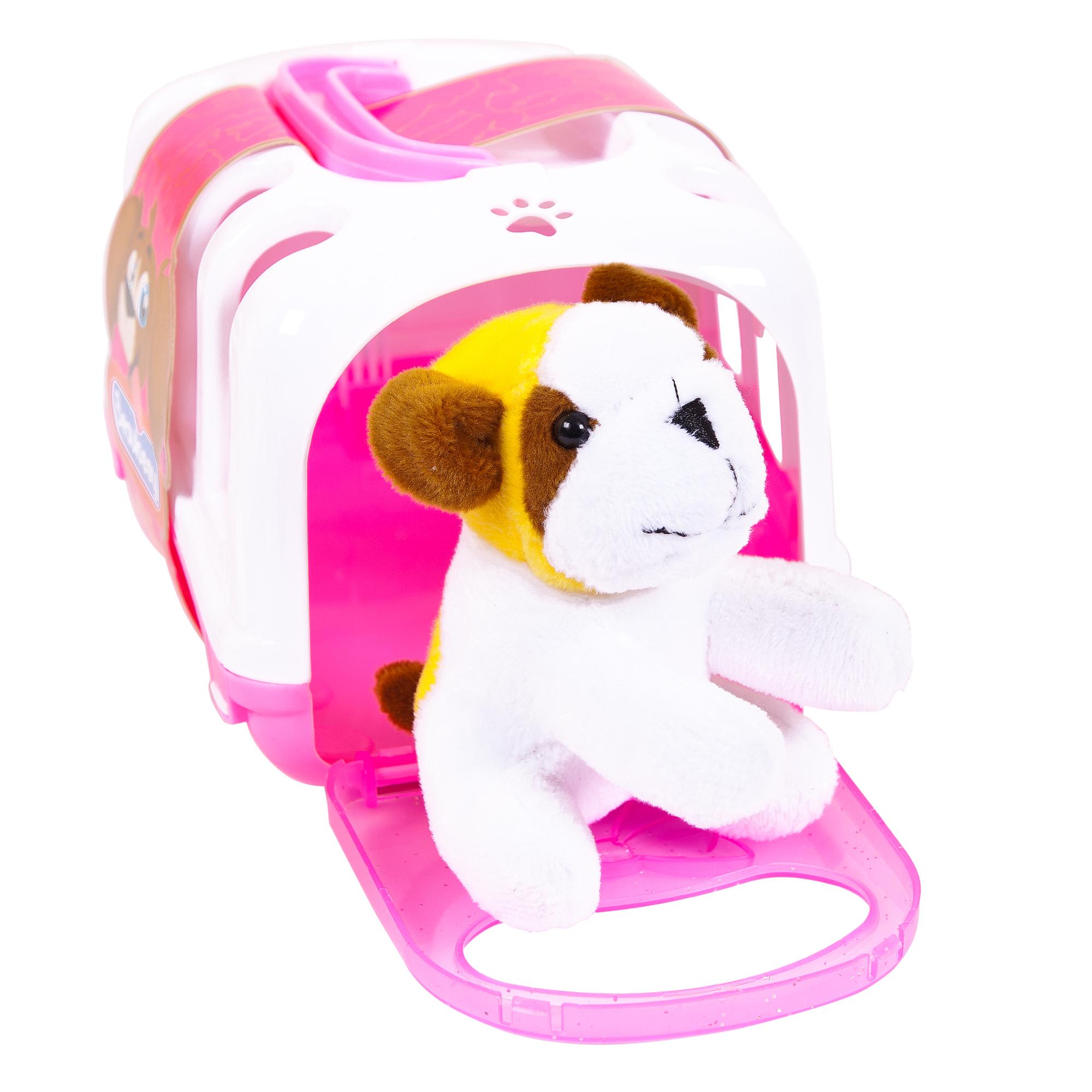 Мягкие игрушки Junfa Мягкая игрушка Junfa Toys «Домашний питомец» с переноской 10 см junfa игрушка антистресс junfa бутылочка молока 10 см