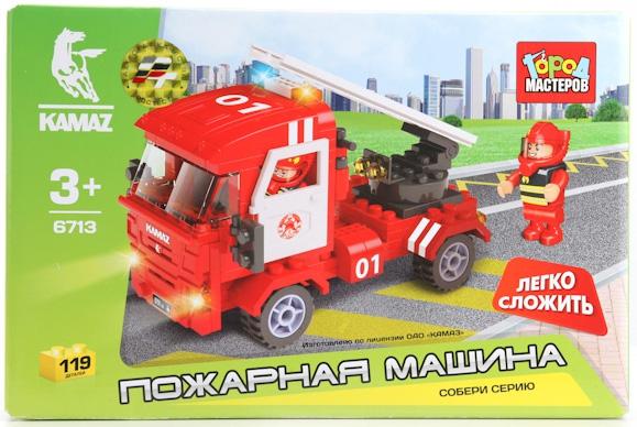 Купить Конструкторы для малышей, Конструктор Пожарная машина Город мастеров, Китай, Мужской