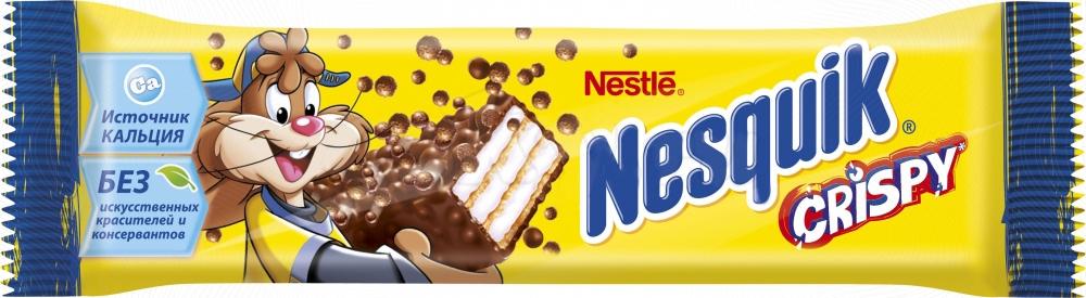 Батончик Nestle Crispy с хрустящей вафлей 8х22 г