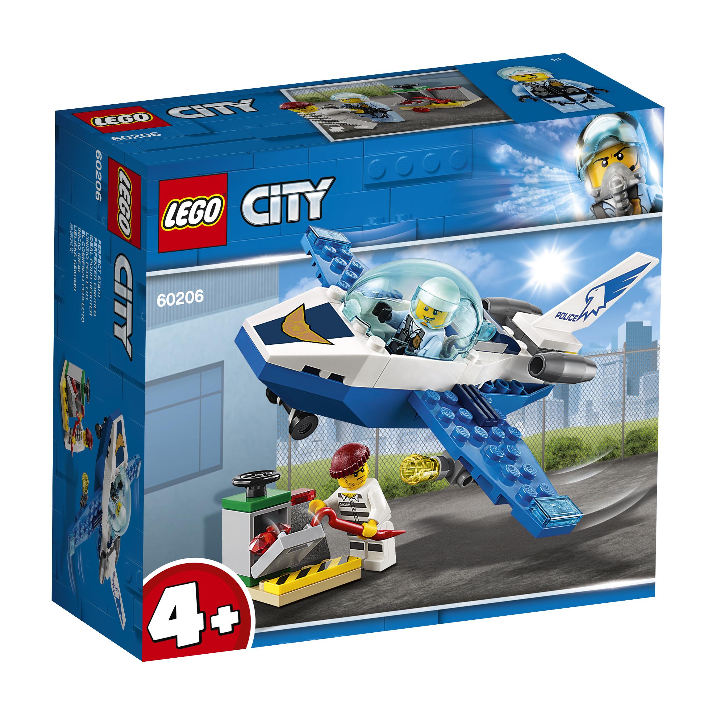 Конструктор LEGO City Police 60206 Воздушная полиция конструктор lego city патрульный самолёт 54 дет 60206