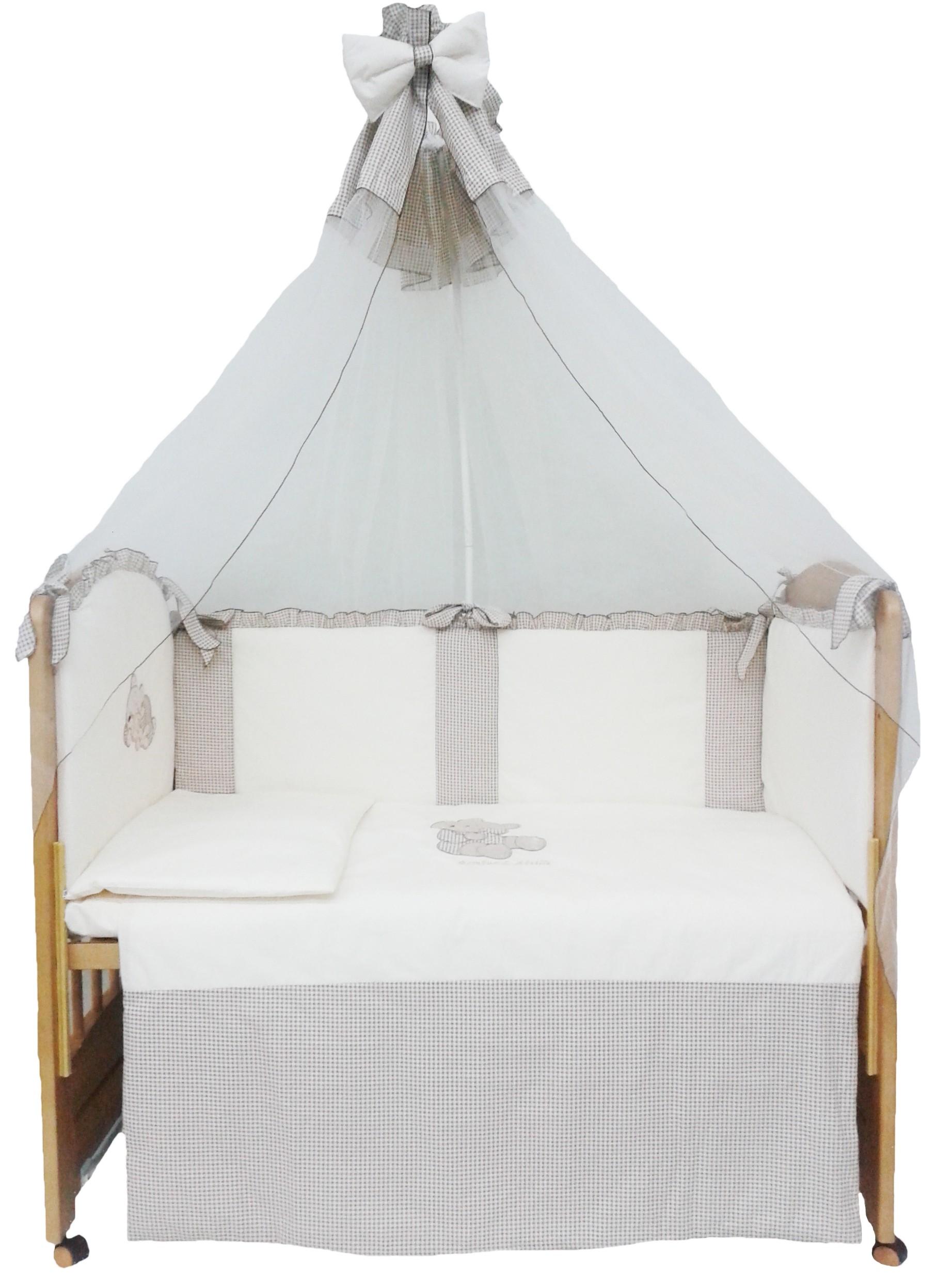 Комплект в кроватку L'Abeille Милый мишка
