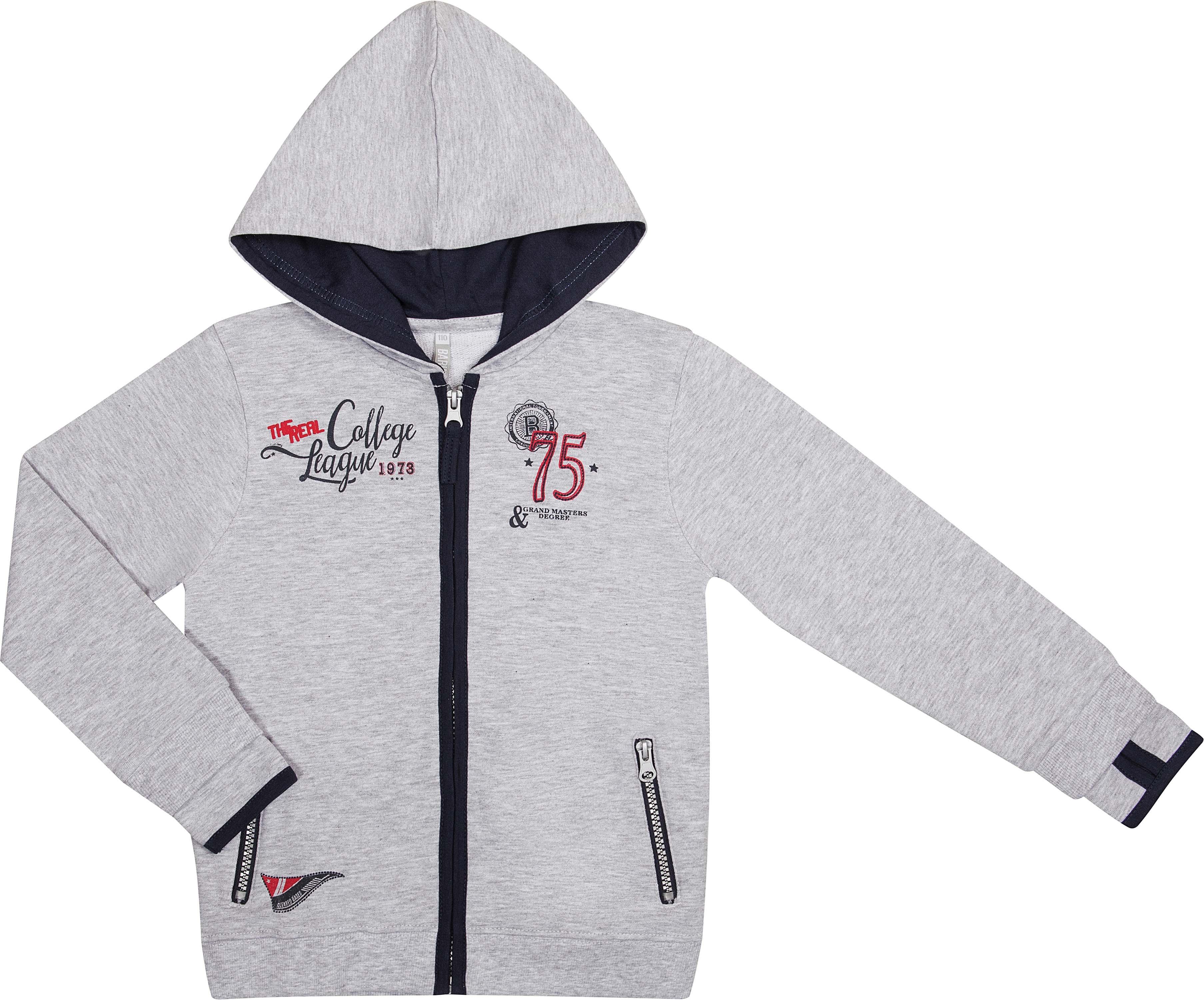 Купить Куртка, 817558 X920 75, Barkito, Германия, серый, основная ткань:95% Хлопок 5% Вискоза: подкладка капюшон 100% Хлопок, Мужской