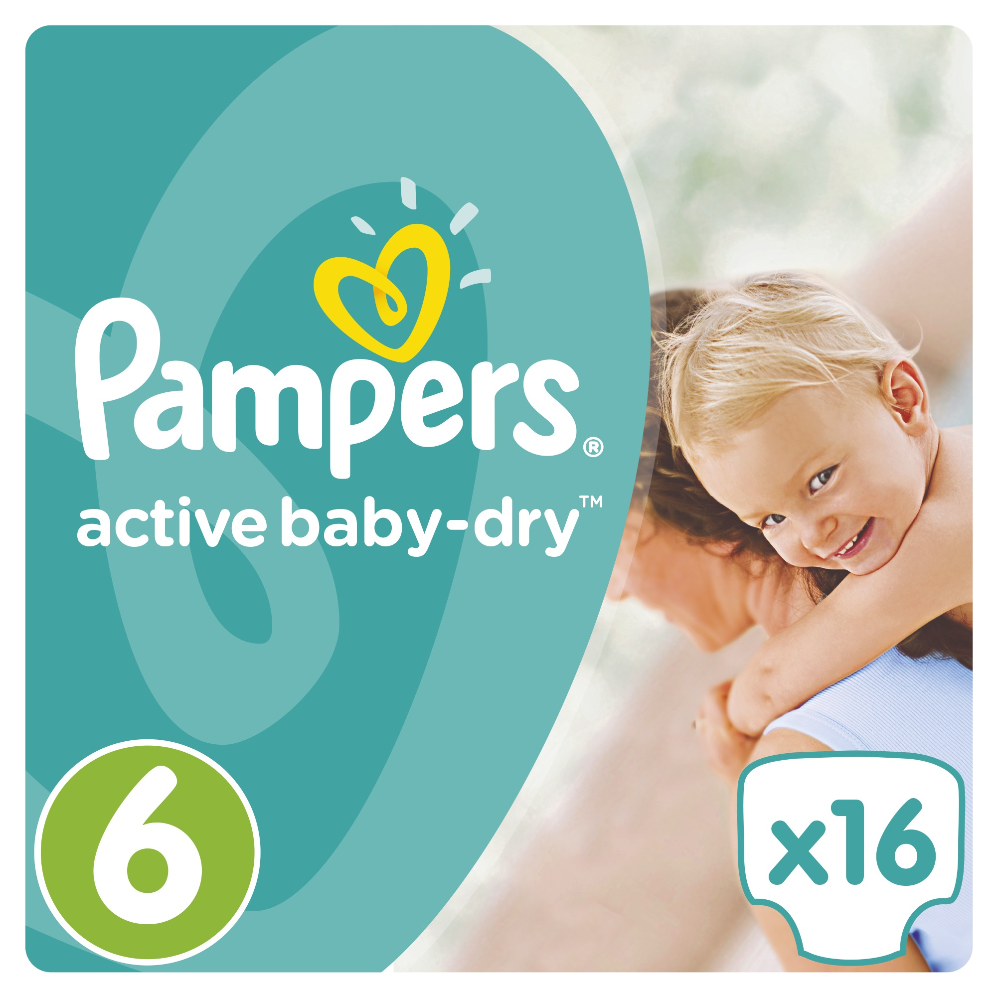 Подгузники Procter & Gamble Active Baby-Dry 6 (15+ кг) 16 шт. подгузники procter
