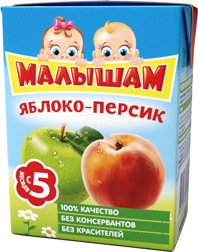 Нектар Прогресс ФрутоНяня Малышам Яблоко и персик с 5 мес. 200 мл