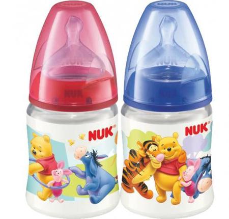 Бутылочка для кормления NUK First Choice Disney с силиконовой соской 0+, 150 мл. бутылочка для кормления nuk first choice plus полипропилен 150 мл латексная соска со средним отверстием для пищи m р р 1 розовая