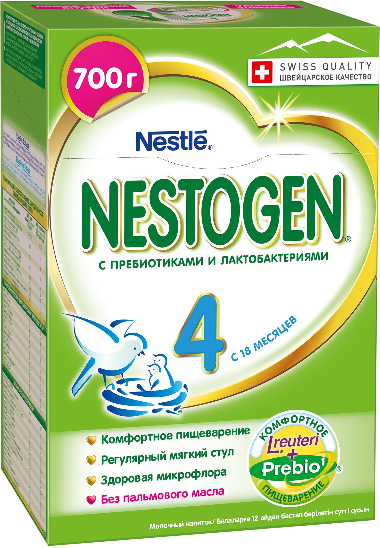 Молочная смесь Nestle Nestogen (Nestlé) 4 (с 18 месяцев) 700 г nestogen 1 смесь молочная с рождения 700 г