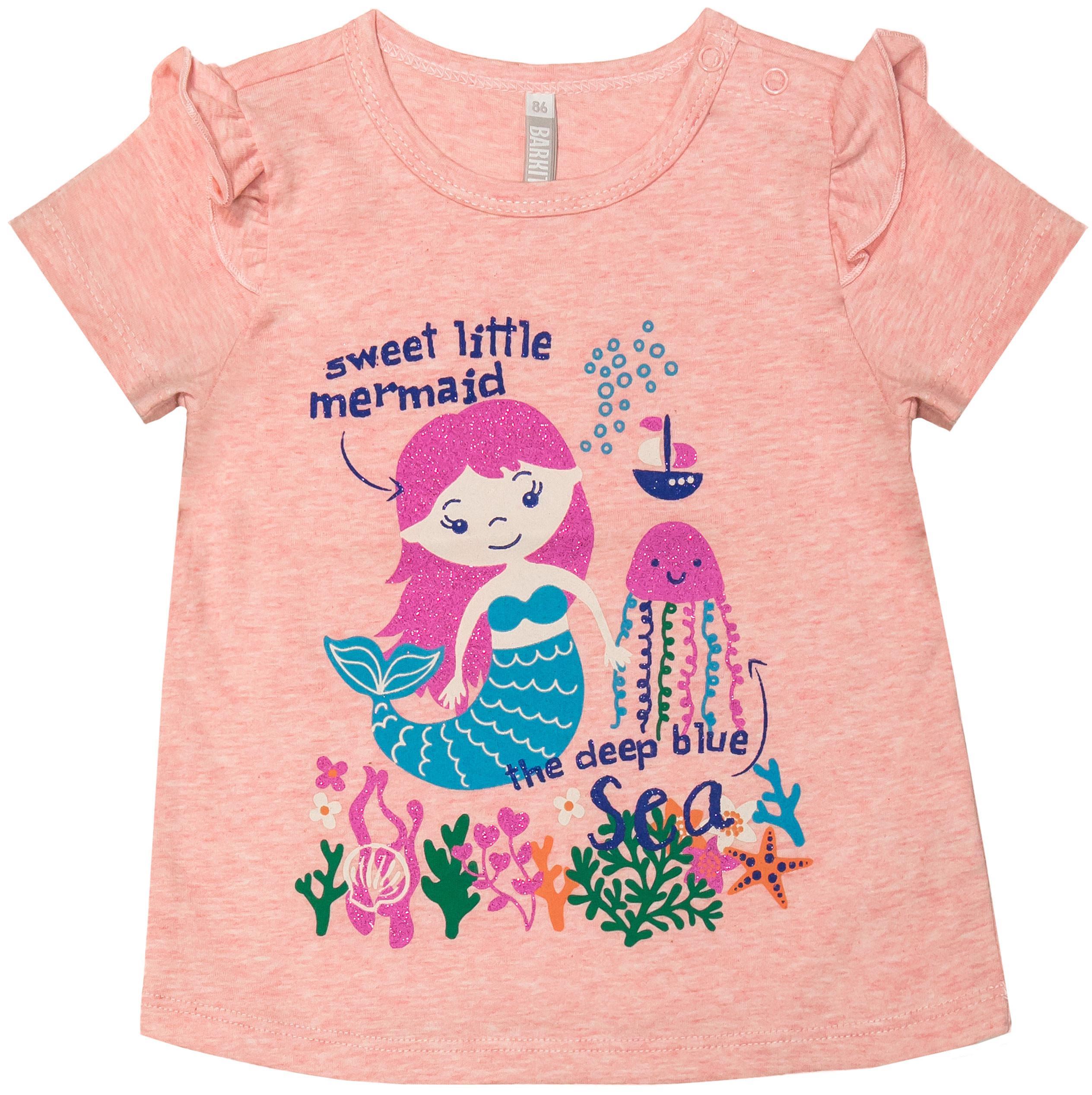 Футболка с коротким рукавом для девочки Barkito Морская принцесса блузка детская barkito морская принцесса голубая