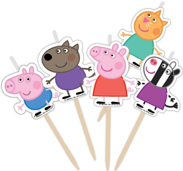 Peppa Pig Peppa Pig Набор свечей Peppa Pig «Пеппа и друзья» на палочках 5 шт. росмэн набор свечей на палочках росмэн заботливые мишки 5 шт