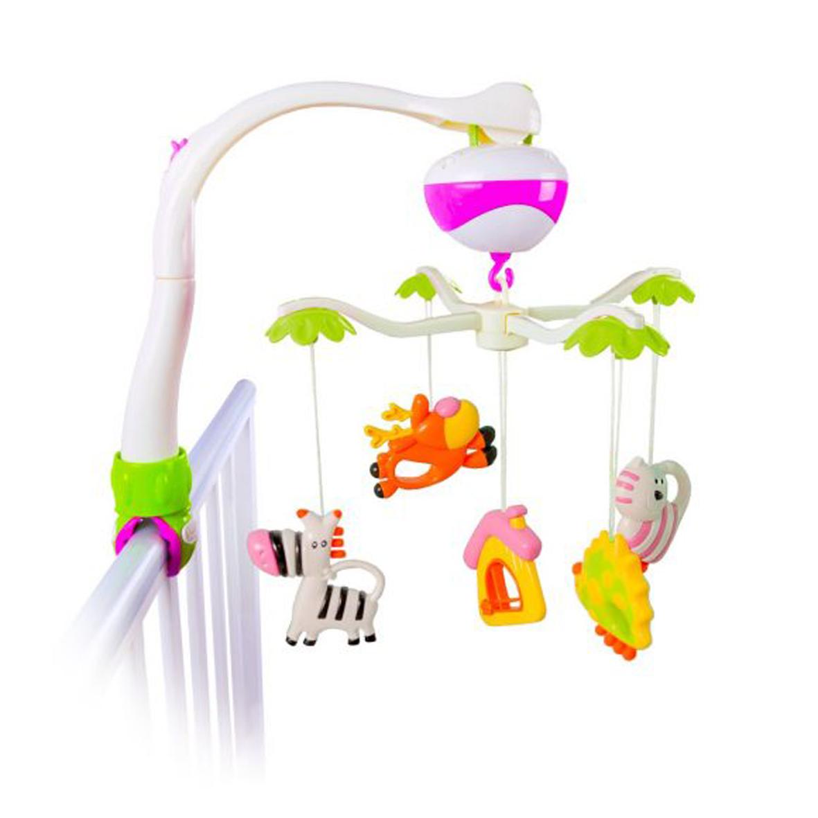 Мобиль Наша игрушка Зоопарк мобили жирафики мобиль жирафики зоопарк музыкальный 2 режима