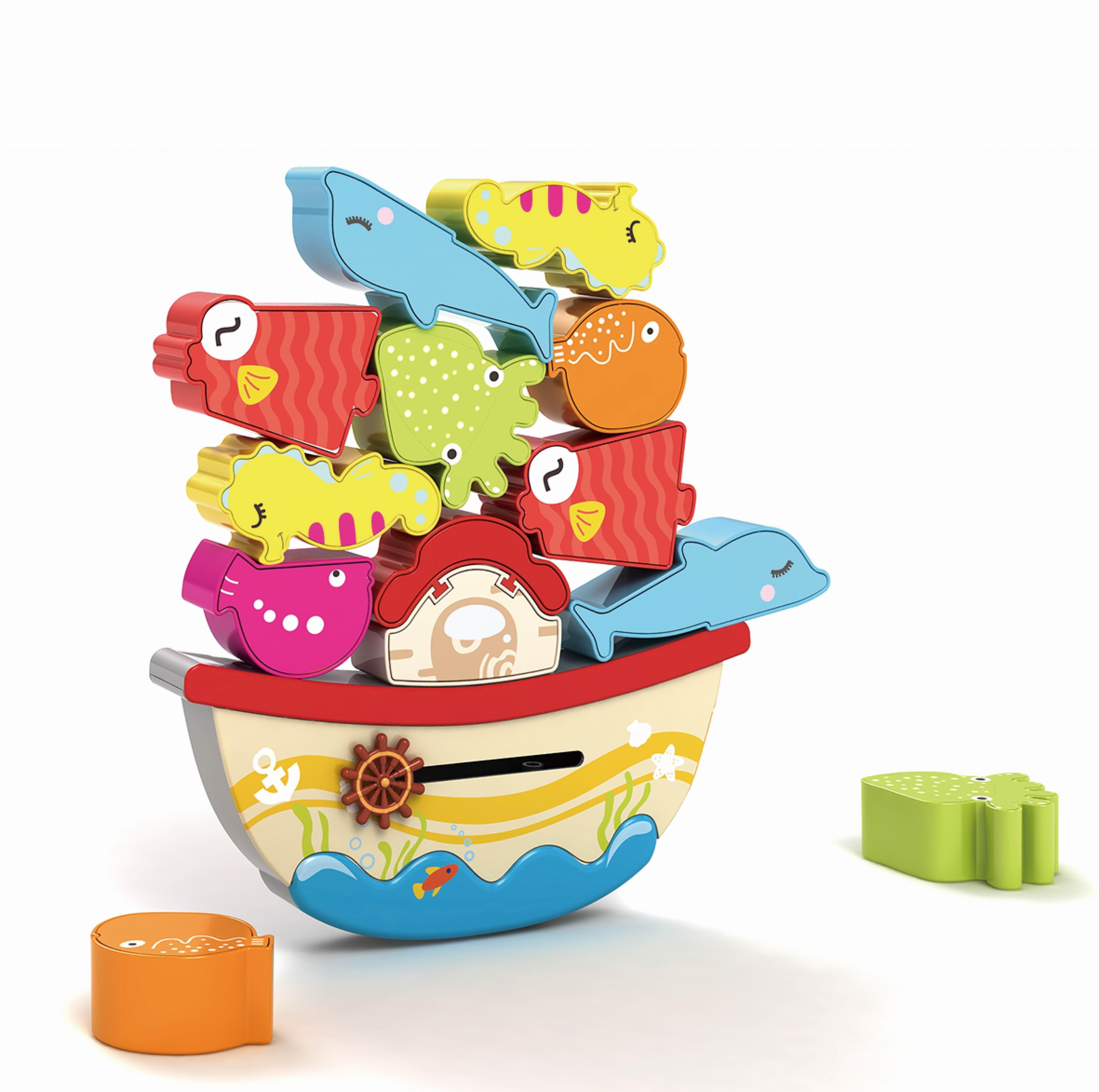 Купить Деревянные игрушки, Морской мир, Жирафики, Китай, Мультиколор