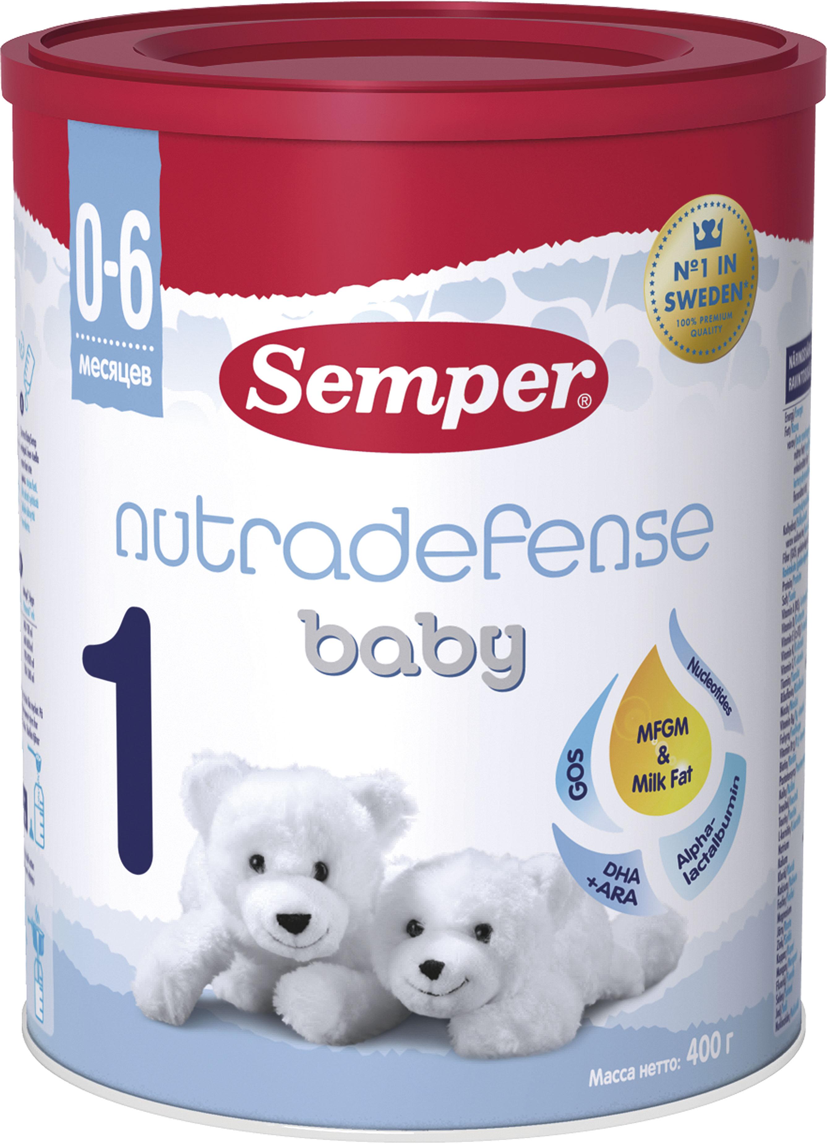 Молочные смеси Semper Semper Baby Nutradefense 1 (0-6 месяцев) 400 г di