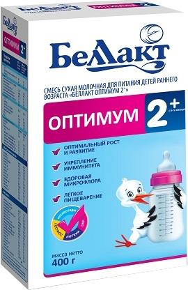 Сухие Беллакт Беллакт Оптимум 2+ (с 6 месяцев до 1 года) 400 г беллакт оптимум 2 молочная смесь для питания с 6 мес 350 г