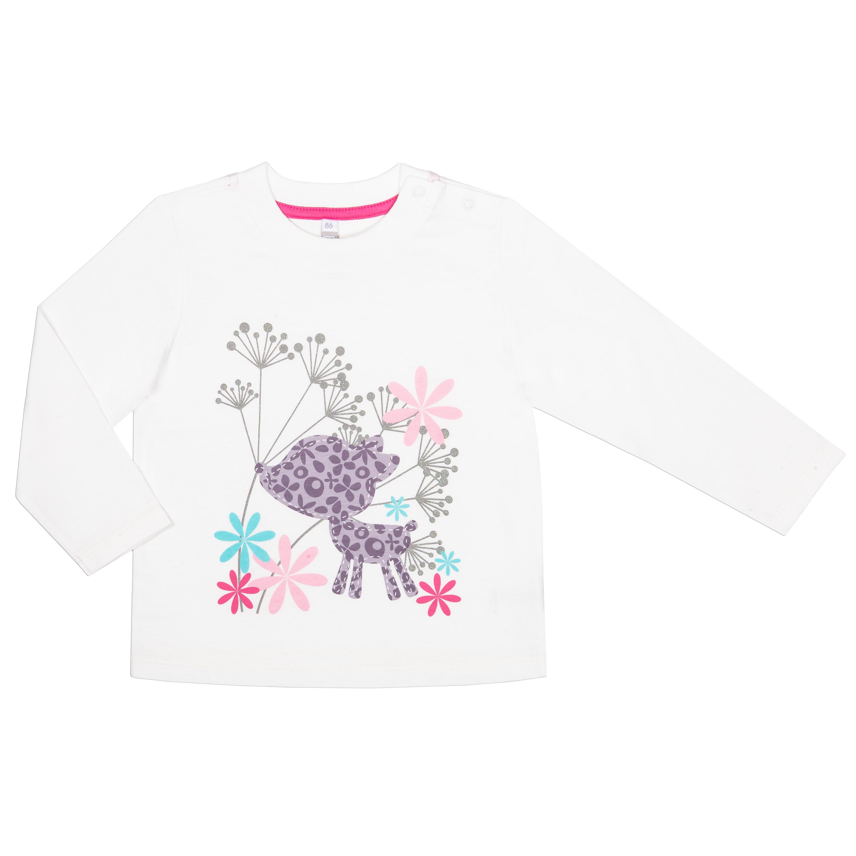 """Футболки Barkito Футболка с длинным рукавом для девочки Barkito """"Сказочный лес 1"""", молочная футболка с длинным рукавом для девочки barkito сказочный лес 1 розовая"""