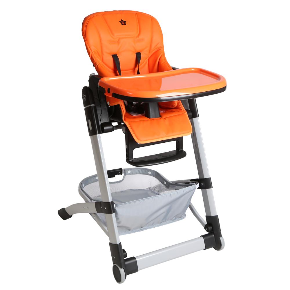 Стульчики для кормления Be2Me Стульчик для кормления Be2Me «Crisby» оранжевый стульчики для кормления kidsmill