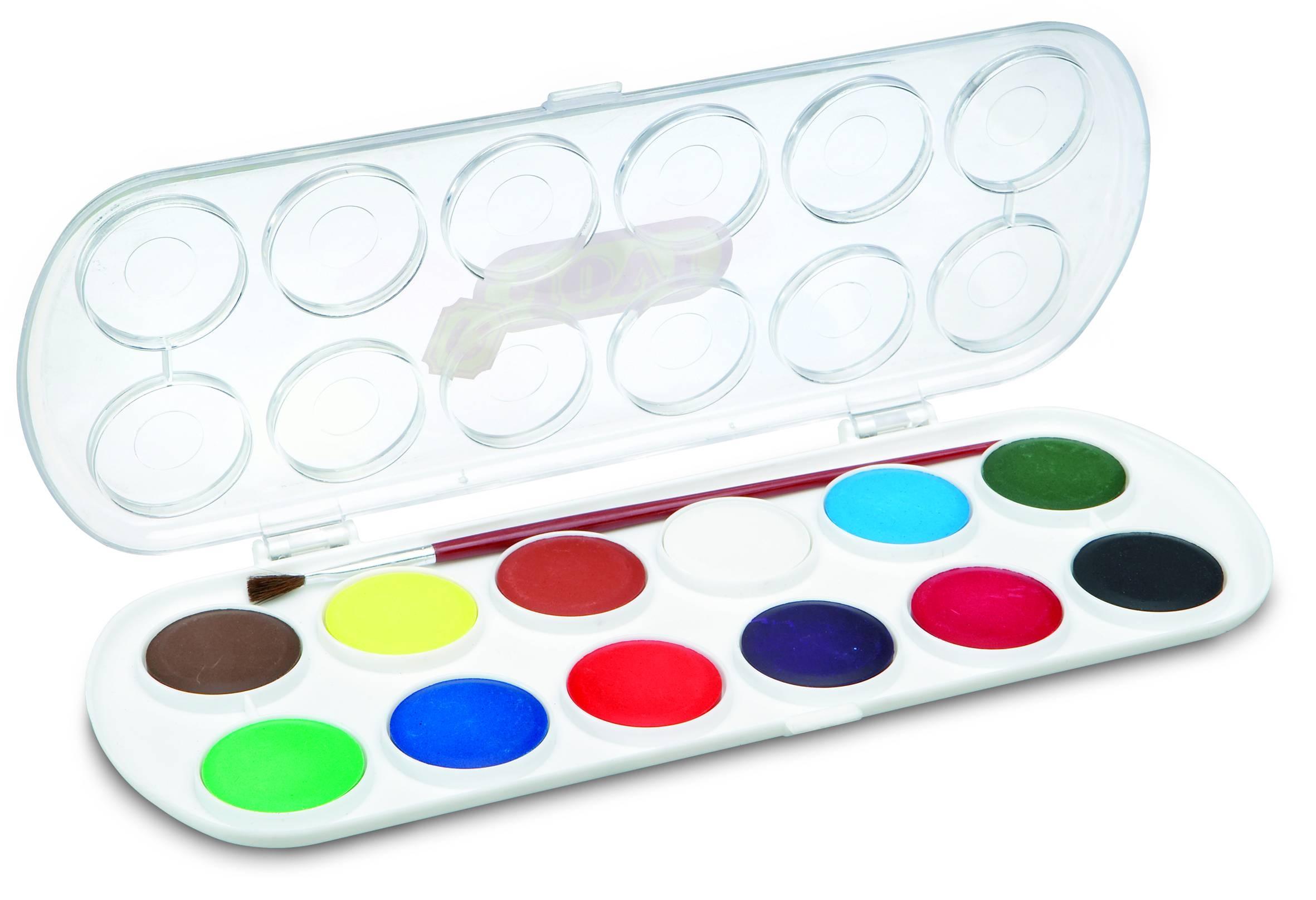 Картинка акварельные краски