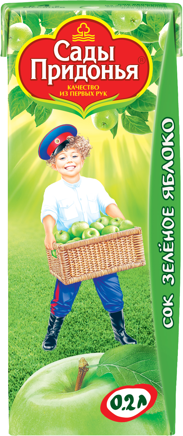Напитки Сады придонья Сок Сады Придонья Зеленое яблоко с 3 мес. 200 мл
