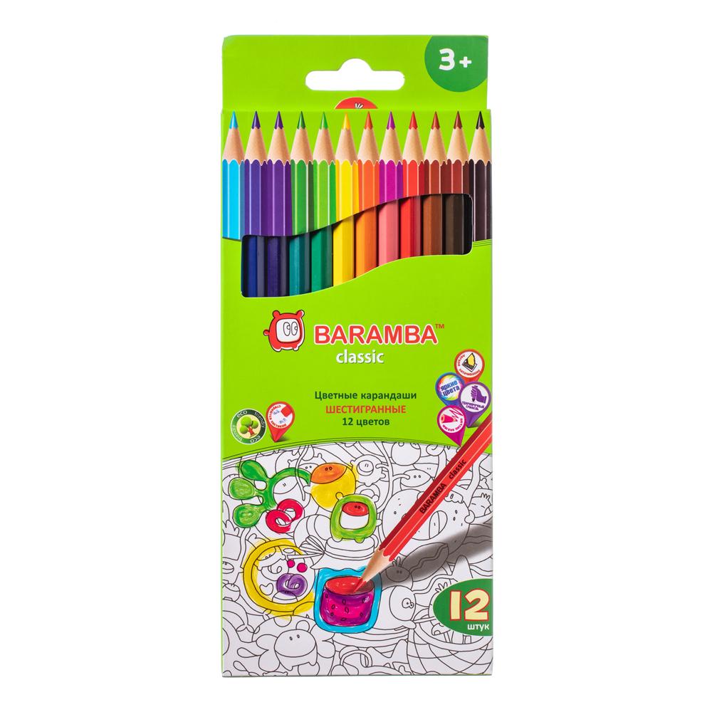 Карандаши цветные Baramba Шестигранные 12 цветов карандаши цветные baramba шестигранные 12 цветов