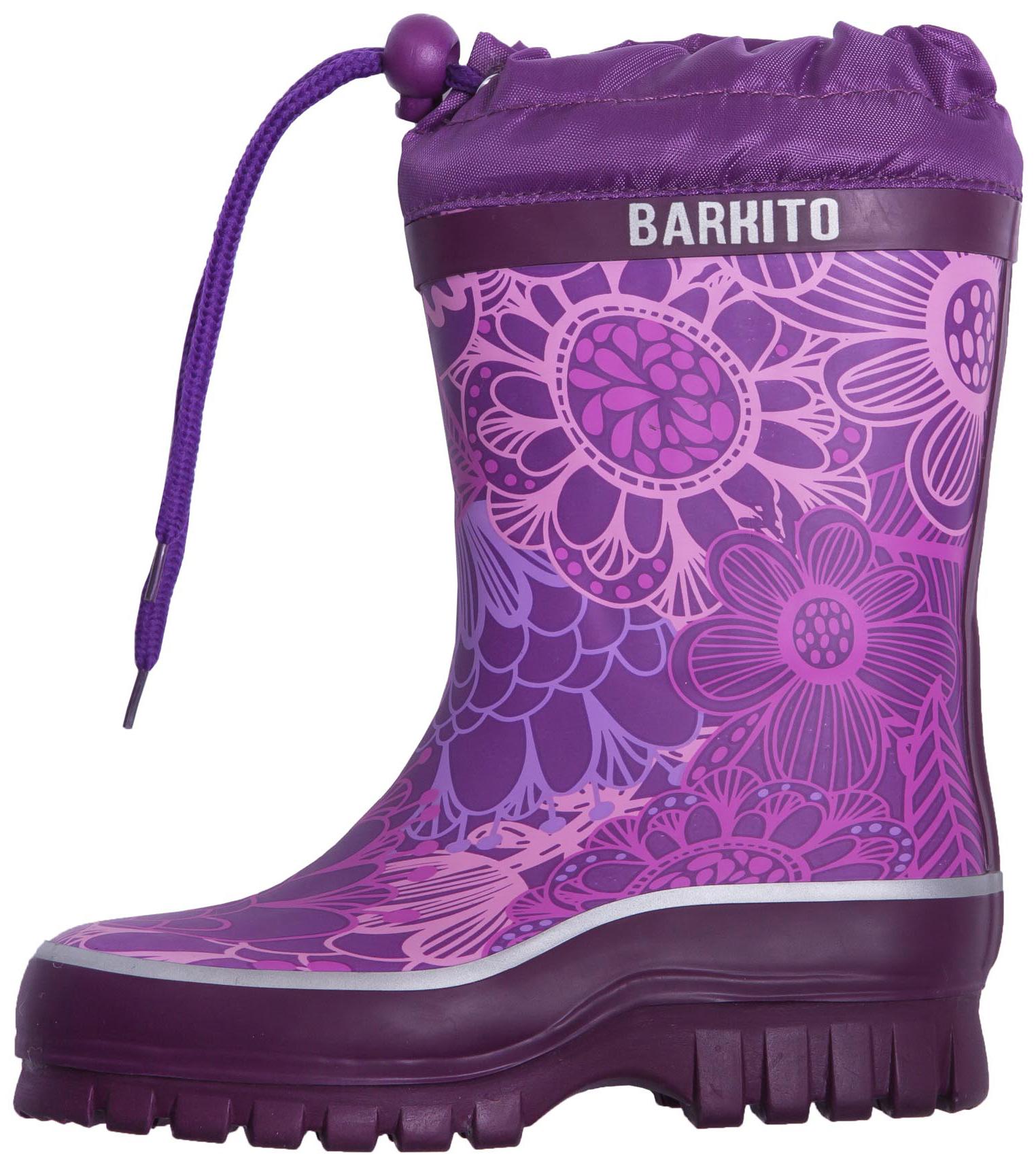 Сапоги резиновые для девочки Barkito Утепленные фиолетовые сапоги резиновые barkito krs18201 1