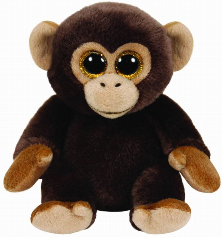 Мягкие игрушки TY Beanie Babies - Обезьянка Bananas 19 см Ty Inc игрушка мягкая ty inc beanie boo s щенок precious 25см 37073