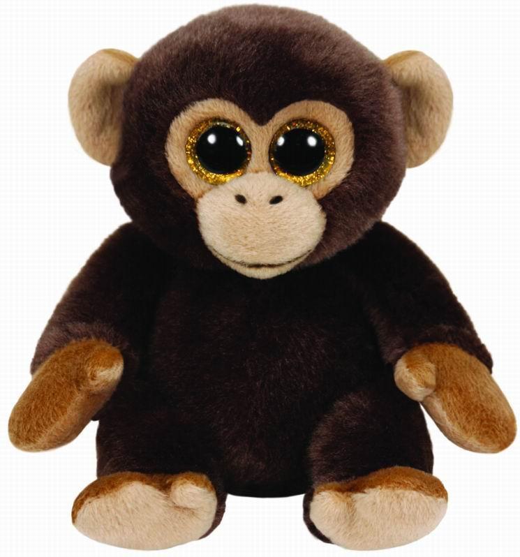 Мягкие игрушки TY Beanie Babies - Обезьянка Bananas 19 см Ty Inc мягкие игрушки hansa обезьянка сидящая палевая 20 см