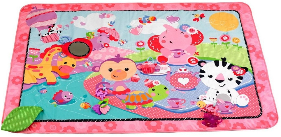 Развивающий коврик Fisher Price Джамбо розовый музыкальный развивающий коврик 3 в 1 fisher price dpx75